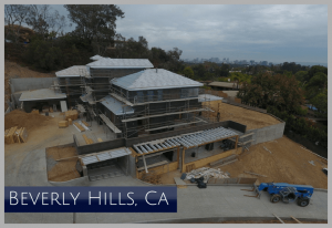 Impressive SPEC construction project with a view of Los Angeles and Century City CA