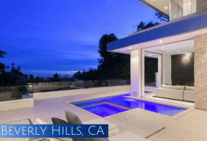 Spectacular view of Los Angeles at Sunset from Beverly Hills home built by C&C Partners
