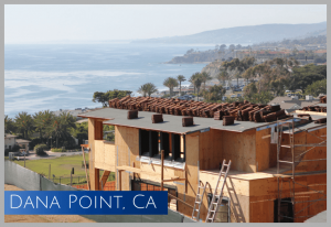 Mid-construction project overlooking the Pacific Ocean in Dan Point, CA