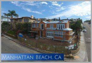 With ocean views, this newly construction home brightens Manhattan Beach CA