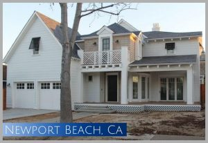 """This home in the """"port street"""" of Newport Beach was a small ranch home before demolition"""