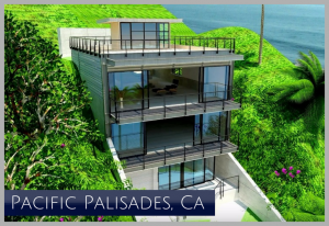 Rendering of new luxury home completed right along the Coast Highway Malibu CA