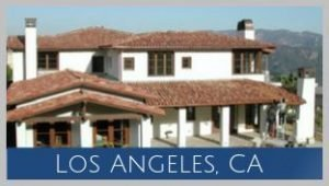 In the Mandeville Canyon are of Los Angeles, this home is traditional Spanish architecture.