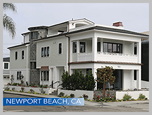 The new beach home was built after a small cottage was torn dow on Balboa Island, CA n