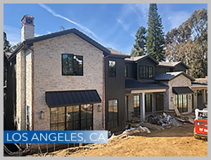 The construction project in Los Angeles is an 11,000 sf luxury SPEC home