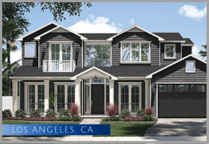 New home construction after demolition in the Beverlywood neighborhood of Los Angeles California