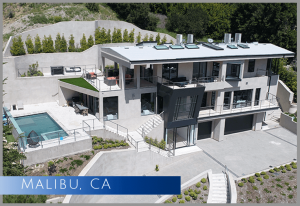 New single-family house built in Malibu, CA 90265 that started as a bare foundation
