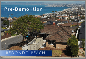 """Pre-demolition of a single family home in the """"Hollywood Riviera"""" neighborhood of Los Angeles's South Bay area"""